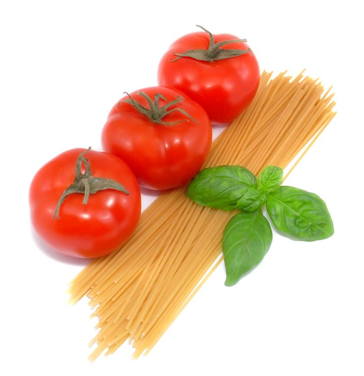 Spaghetti and Tomato Before Preparing