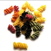 Tipical Italian Pasta Tagliatelle and Fusilli